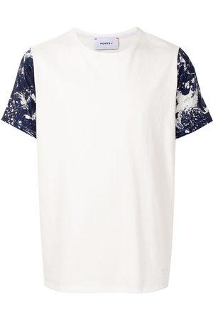 Ports V T-Shirt mit Farbklecks-Print