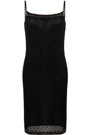 Christian Dior 2000s pre-owned Lurex-Kleid mit Perlen