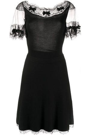 Dior Damen Kleider - 2000s pre-owned Kleid mit Spitzenbesatz