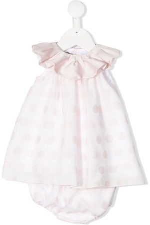 LA STUPENDERIA Gerüschtes Kleid mit Polka Dots
