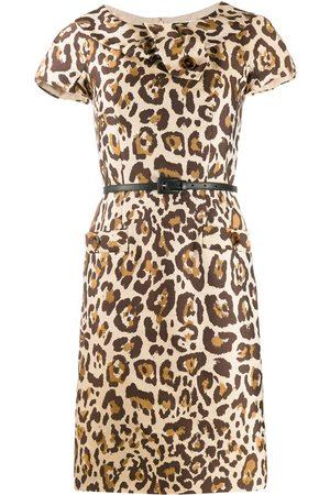 Dior 2000s pre-owned Kleid mit Leoparden-Print