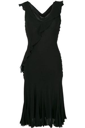 Dior Pre-owned Seidenkleid mit drapiertem Ausschnitt