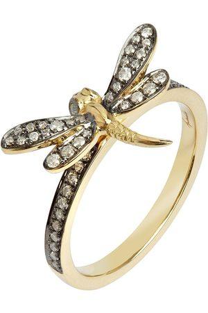 ANNOUSHKA 18kt Gelbgoldring mit Diamanten