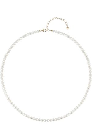 Mateo Damen Halsketten - 14kt Gelbgold-Choker mit Perlen