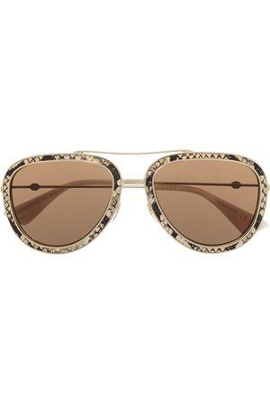 Gucci Sonnenbrille mit Schlangen-Effekt