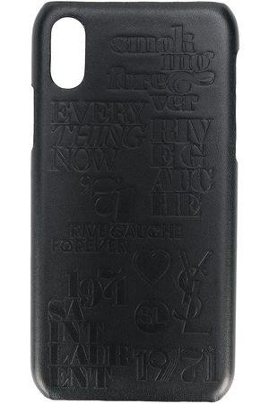 Saint Laurent Herren Handy - IPhone X-Hülle mit Kroko-Effekt