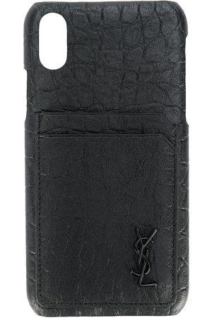 Saint Laurent IPhone X-Hülle mit Logo-Prägung