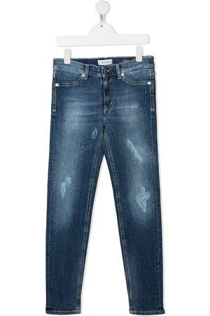 Dondup Kids Ausgeblichene Slim-Fit-Jeans