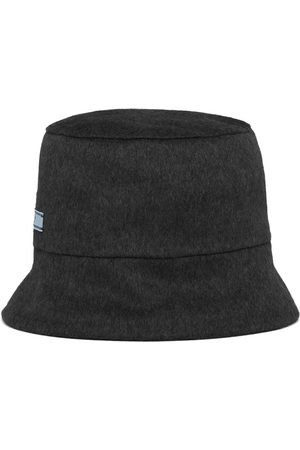 Prada Damen Hüte - Fischerhut mit Logo-Patch
