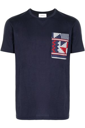 Ports V T-Shirt im Patchwork-Design