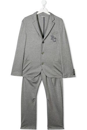 Brunello Cucinelli Kids Zweiteiliger TEEN Anzug mit Logo