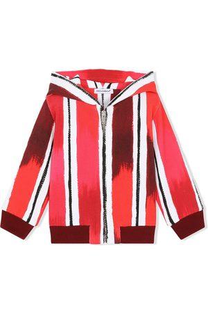 Dolce & Gabbana Kapuzenjacke mit gemalten Streifen