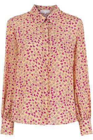 NK Damen Blusen - Seidenhemd mit Print
