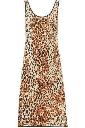 JoosTricot Damen Freizeitkleider - Scoop-neck Leopard-jacquard Midi Dress