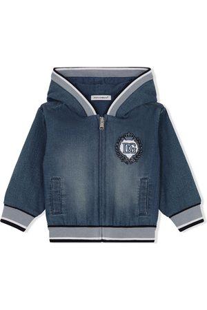 Dolce & Gabbana Jeansjacken - Jeans-Hoodie mit Logo-Stickerei