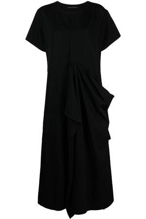 YOHJI YAMAMOTO Drapiertes Kleid