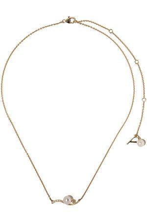 Yoko London Damen Halsketten - 18kt Gelbgoldhalskette mit Perlen und Diamanten