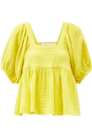 Anaak Damen Tops & T-Shirts - Bridgette Square-neck Cotton Top