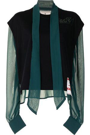 Maison Mihara Yasuhiro Damen Tops & T-Shirts - Oberteil mit Einsatz