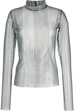 HENRIK VIBSKOV Semi-transparente Bluse mit Print