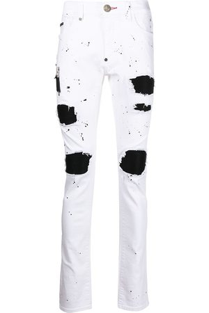 Philipp Plein Biker Destroyed Skinny-Jeans