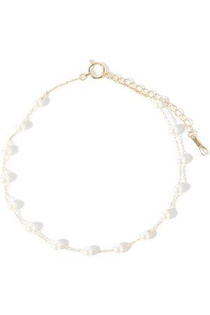 Mizuki Damen Armbänder - Floating Pearl 14kt Anklet