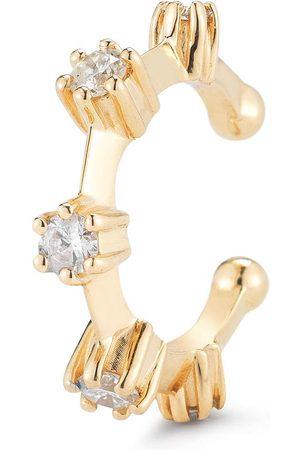 Jade Trau 18kt Ear Cuff aus Gelbgold mit Diamanten