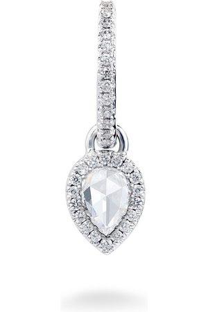 David Morris 18kt Creole mit Diamanten aus Weißgold