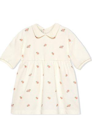 Gucci Kleid mit Logo-Blumenstickerei