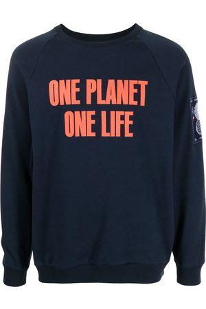 "Ports V Sweatshirt mit ""One Planet One Life""-Print"