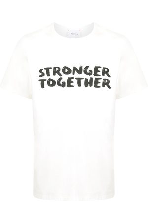 "Ports V T-Shirt mit ""Stronger Together""-Print"