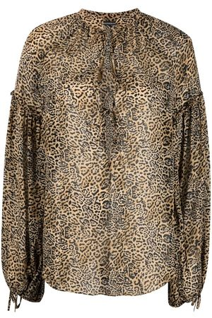 WANDERING Bluse mit Leoparden-Print
