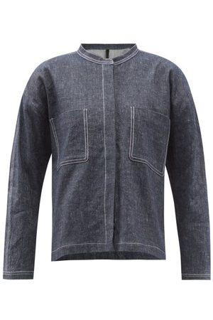 SARA LANZI Damen Jeansjacken - Stand-collar Denim Jacket