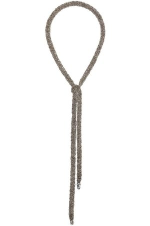 EMANUELE BICOCCHI Gewickelte Halskette in Häkeloptik
