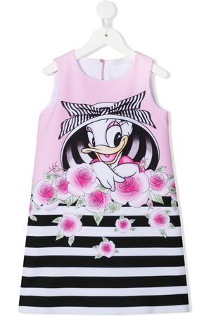 Monnalisa Trägerkleid mit Daisy Duck-Print