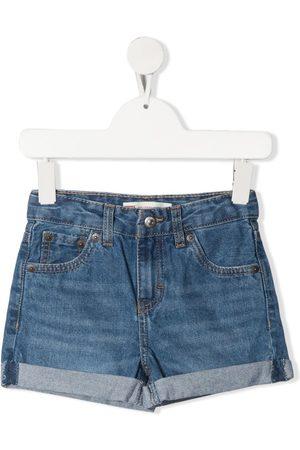 Levi's Kids Mädchen Cropped - Halbhohe Jeans-Shorts