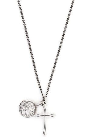EMANUELE BICOCCHI Halsketten - Halskette mit Münze und Kreuz