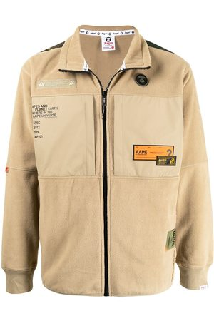 AAPE BY A BATHING APE Fleecejacke mit Patches