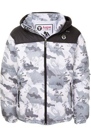 AAPE BY A BATHING APE Gefütterte Jacke mit Camouflage-Print