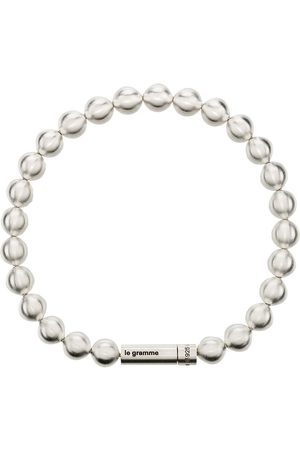 Le Gramme Herren Armbänder - Le 47g Perlenarmband mit gebürstetem Effekt