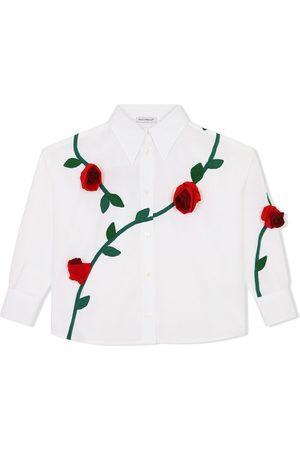 Dolce & Gabbana Hemd mit Rosenstickerei