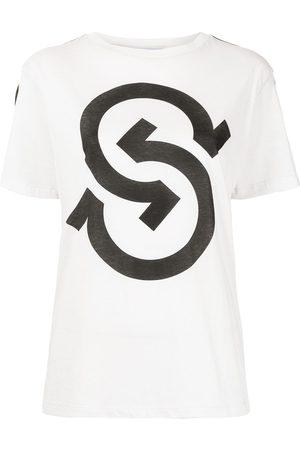 Salvatore Ferragamo Damen T-Shirts, Polos & Longsleeves - T-Shirt mit Logo-Print