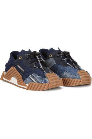 Dolce & Gabbana Sneakers mit Jeans-Einsätzen