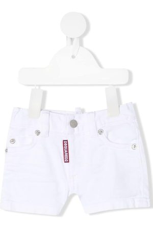 Dsquared2 Cropped - Jeans-Shorts mit Logo-Patch