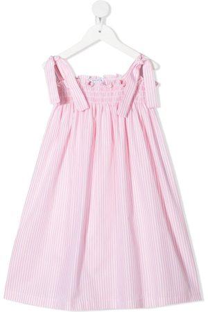 SIOLA Gesmoktes Kleid mit Streifen