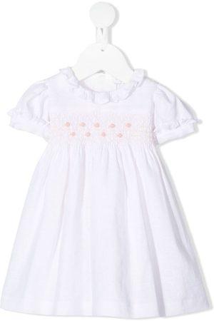 SIOLA Gesmoktes Kleid mit Rüschenkragen