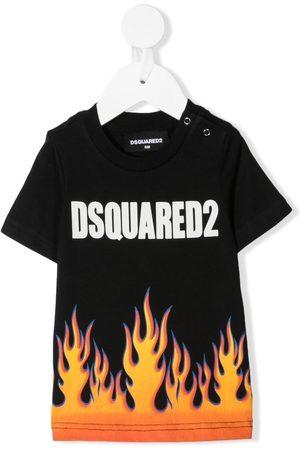 Dsquared2 Kids T-Shirt mit Flammen-Logo