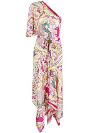 ETRO Asymmetrisches Kleid mit Paisley-Print