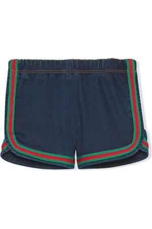 Gucci Jeans-Shorts mit Besatzstreifen