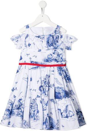 MONNALISA Popeline-Kleid mit Disney-Print